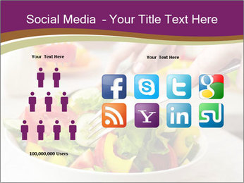 Tasting salad PowerPoint Template - Slide 5
