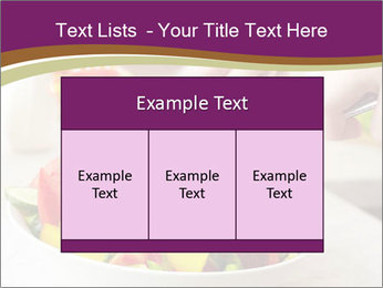 Tasting salad PowerPoint Template - Slide 59