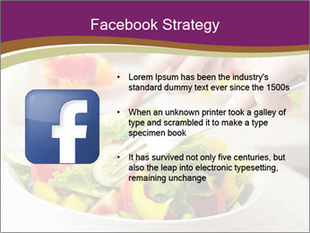 Tasting salad PowerPoint Template - Slide 6