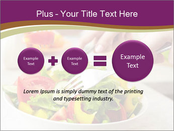 Tasting salad PowerPoint Template - Slide 75