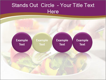 Tasting salad PowerPoint Template - Slide 76