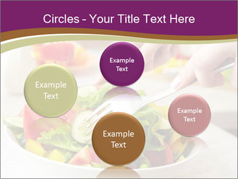 Tasting salad PowerPoint Template - Slide 77