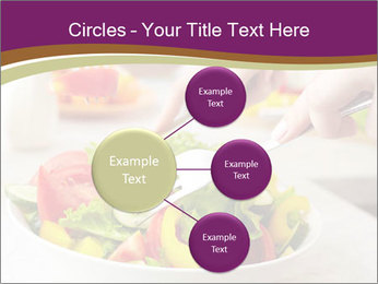 Tasting salad PowerPoint Template - Slide 79