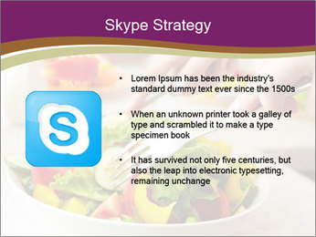 Tasting salad PowerPoint Template - Slide 8