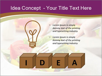 Tasting salad PowerPoint Template - Slide 80