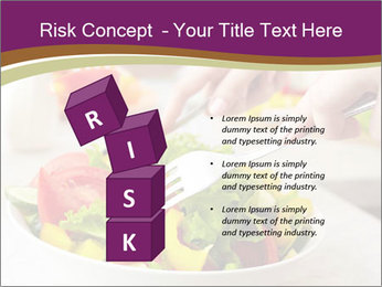 Tasting salad PowerPoint Template - Slide 81