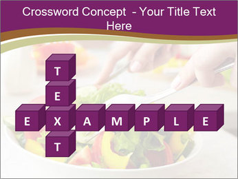 Tasting salad PowerPoint Template - Slide 82