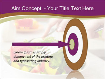 Tasting salad PowerPoint Template - Slide 83
