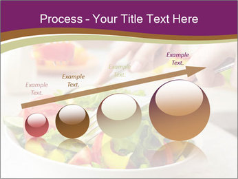 Tasting salad PowerPoint Template - Slide 87
