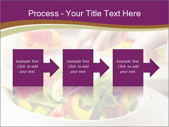 Tasting salad PowerPoint Template - Slide 88