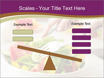 Tasting salad PowerPoint Template - Slide 89