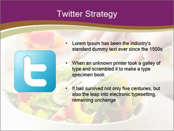 Tasting salad PowerPoint Template - Slide 9