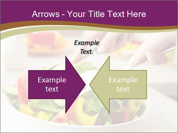 Tasting salad PowerPoint Template - Slide 90