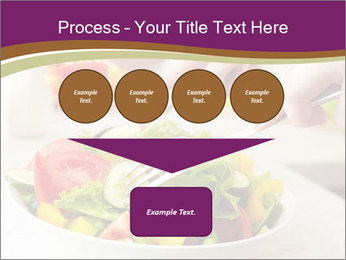 Tasting salad PowerPoint Template - Slide 93