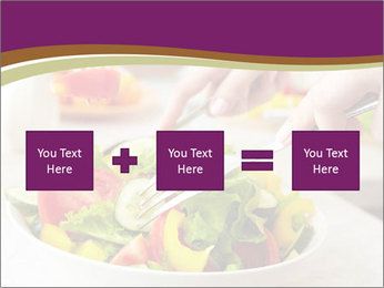 Tasting salad PowerPoint Template - Slide 95