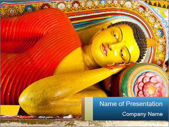 Reclining buddha PowerPoint Templates - Slide 1