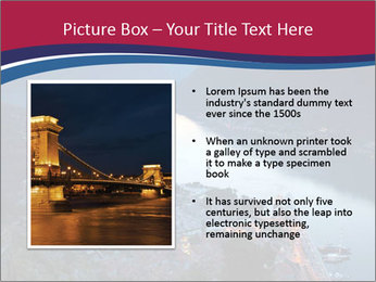 Night view of Montenegro PowerPoint Template - Slide 13