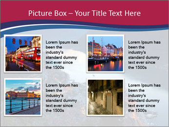 Night view of Montenegro PowerPoint Template - Slide 14