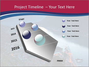 Night view of Montenegro PowerPoint Template - Slide 26