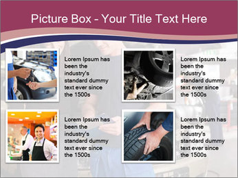 Mechanic and woman PowerPoint Template - Slide 14