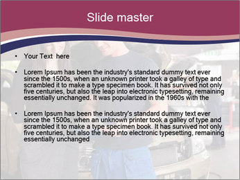 Mechanic and woman PowerPoint Template - Slide 2