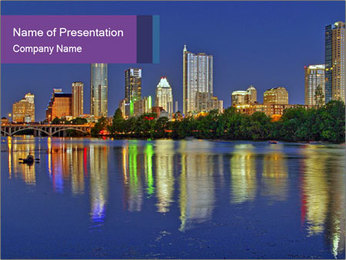 Beautiful Austin skyline PowerPoint Template