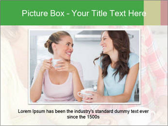 Women chatting over coffee at home PowerPoint Templates - Slide 16