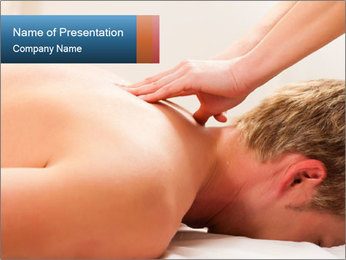 Patient at the physiotherapy PowerPoint Template - Slide 1