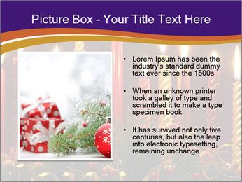 Christmas candles PowerPoint Template - Slide 13