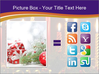 Christmas candles PowerPoint Templates - Slide 21