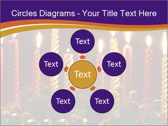 Christmas candles PowerPoint Templates - Slide 78