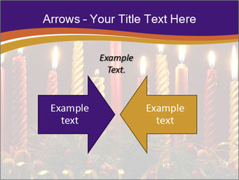 Christmas candles PowerPoint Templates - Slide 90