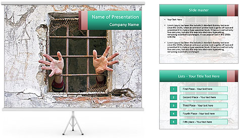 A pair of hands PowerPoint Template