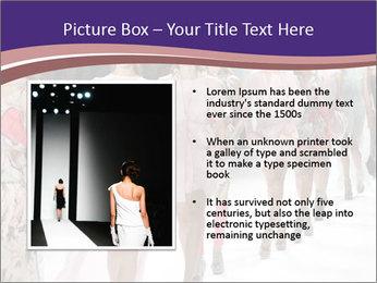Models walk the runway PowerPoint Template - Slide 13
