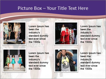 Models walk the runway PowerPoint Template - Slide 14