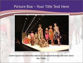 Models walk the runway PowerPoint Template - Slide 16