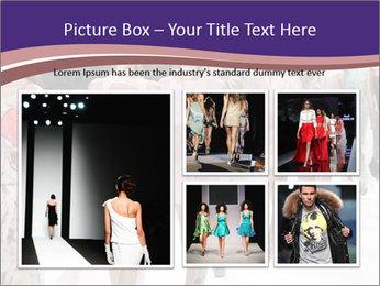 Models walk the runway PowerPoint Template - Slide 19