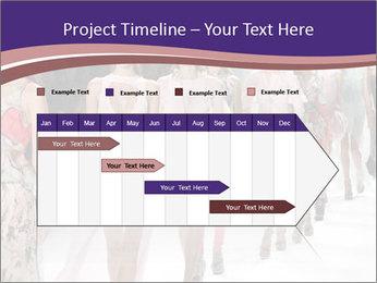 Models walk the runway PowerPoint Template - Slide 25