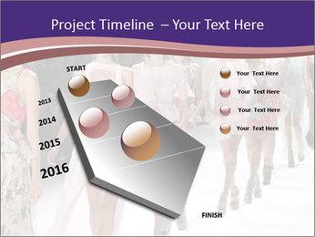 Models walk the runway PowerPoint Template - Slide 26