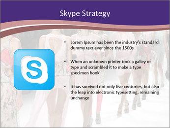 Models walk the runway PowerPoint Template - Slide 8