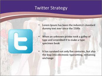 Models walk the runway PowerPoint Template - Slide 9