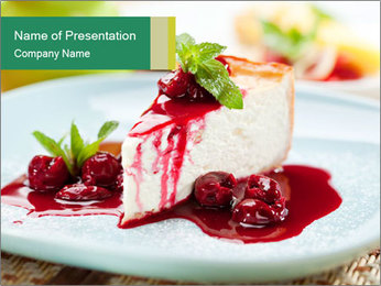 Dessert PowerPoint Template - Slide 1