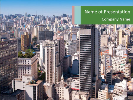 City of Sao Paulo PowerPoint Templates