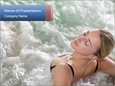 Woman in spa jacuzzi PowerPoint Template