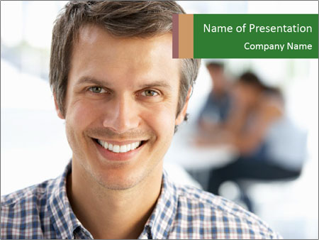 Businessman in office PowerPoint Templates