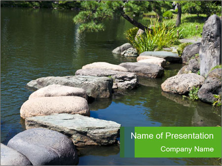 Zen stone PowerPoint Templates