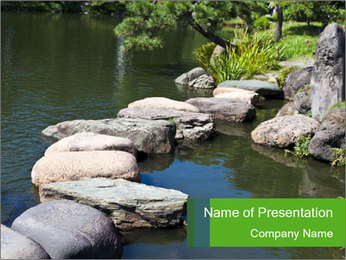 Zen stone PowerPoint Template - Slide 1