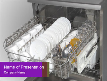 Dishwasher PowerPoint Template - Slide 1