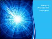 Binary beams PowerPoint Template