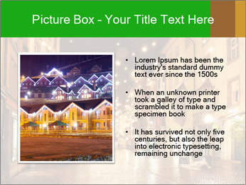 Street in a Christmas night PowerPoint Templates - Slide 13